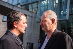 Manuel Hüttl/links und Prof. Peter Bienert/rechts