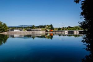 Wasserkraftwerk Bannwil. Foto: Philipp Zinniker